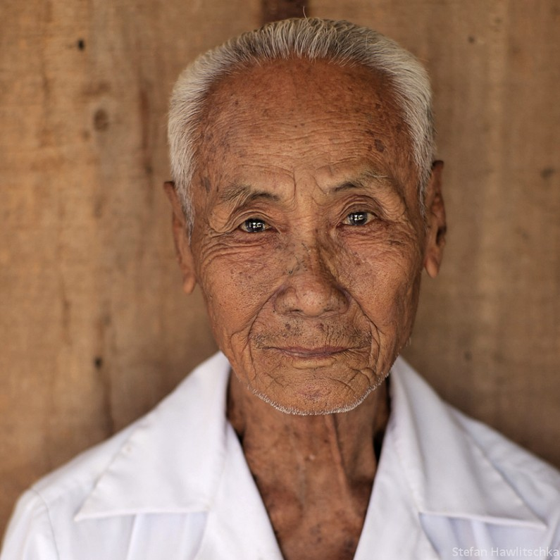 This dignified man provides the land for the hospital.