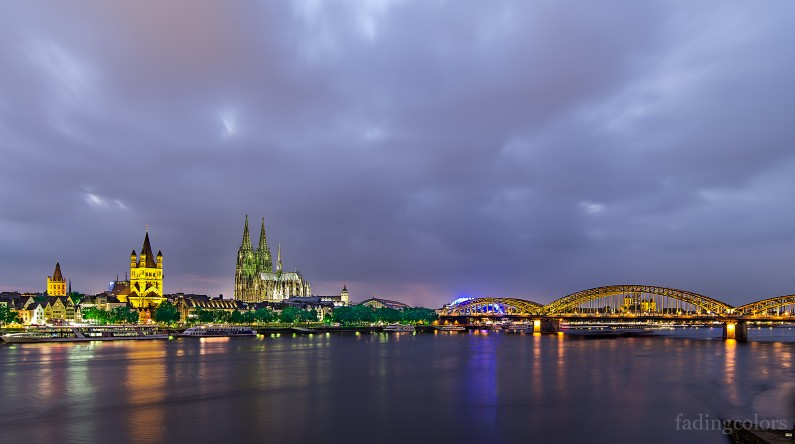 Rhine panorama at Cologne.
